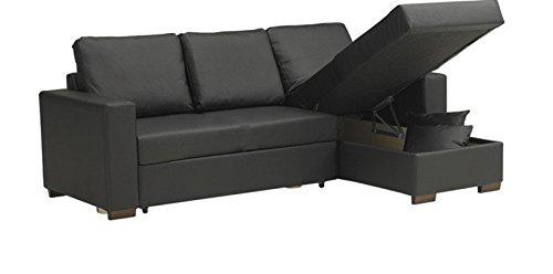 canapé convertible d'angle parigi avec coffre sous meridienne