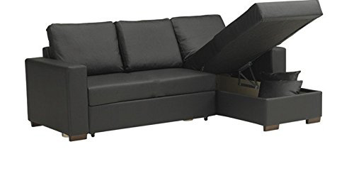test du canap convertible parigi en polyur thane simili cuir. Black Bedroom Furniture Sets. Home Design Ideas