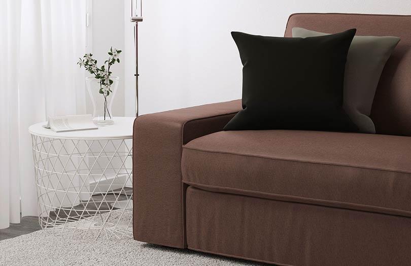 canapé kivik confortable avec coussins