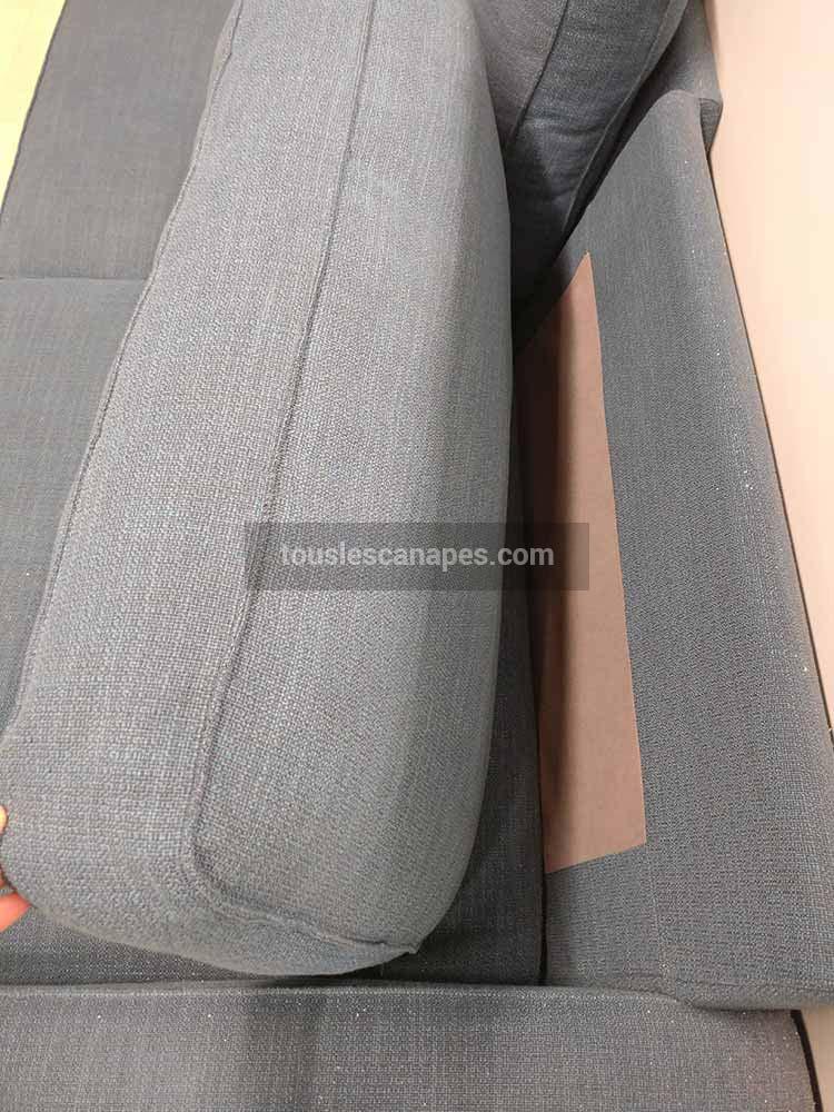 canapé kivik avec coussins de dossier