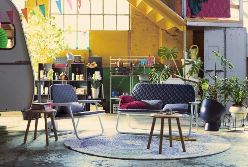 Ikea PS 2017 fauteuil bleu