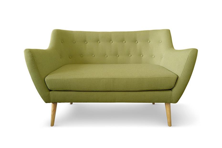 Canapé confortable style scandinave capitonné vert à moins de 300 euros