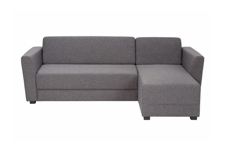 Canapé d'angle réversible convertible déplimousse ELIOT gris anthracite but