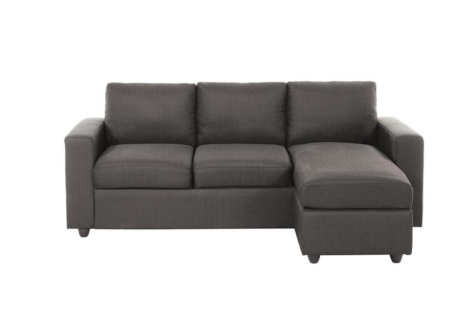 A moins de 300 € JULES Canapé d'angle 3 places en tissu gris de maison du monde