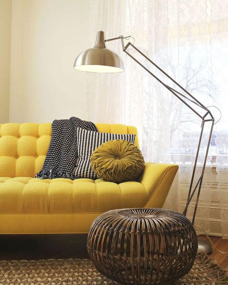 bout de canape jaune moutarde. Black Bedroom Furniture Sets. Home Design Ideas