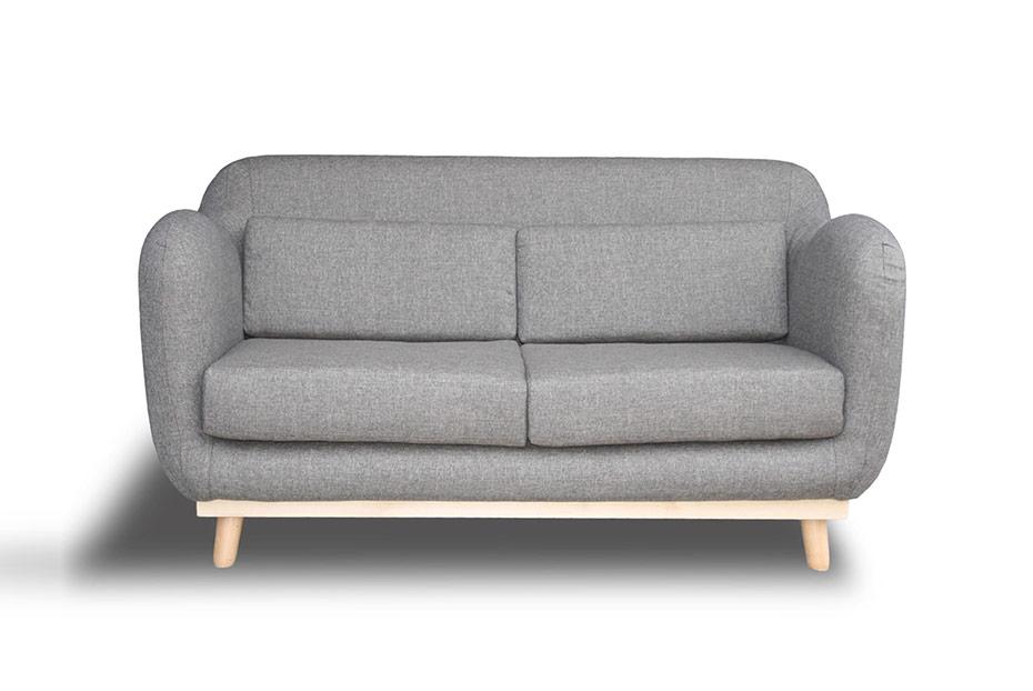 Moins de 300 euros pour le Canapé tissu fixe droit 2 places avec piètement bois clair ALAN