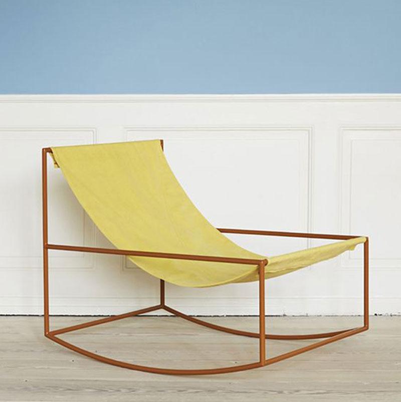 Chaise jaune été
