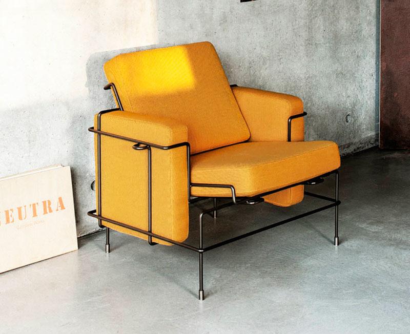 Fauteuil jaune la couleur intemporelle et tendance - Fauteuil industriel ...