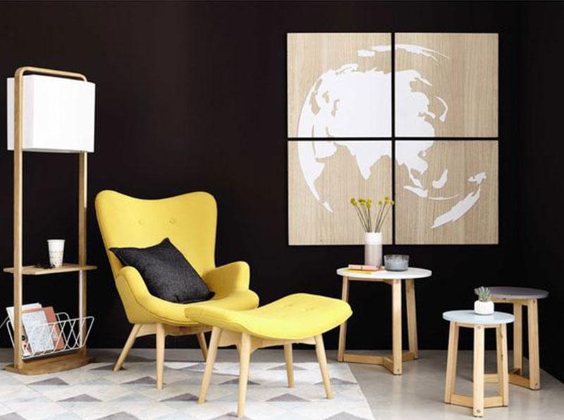 fauteuil jaune vintage