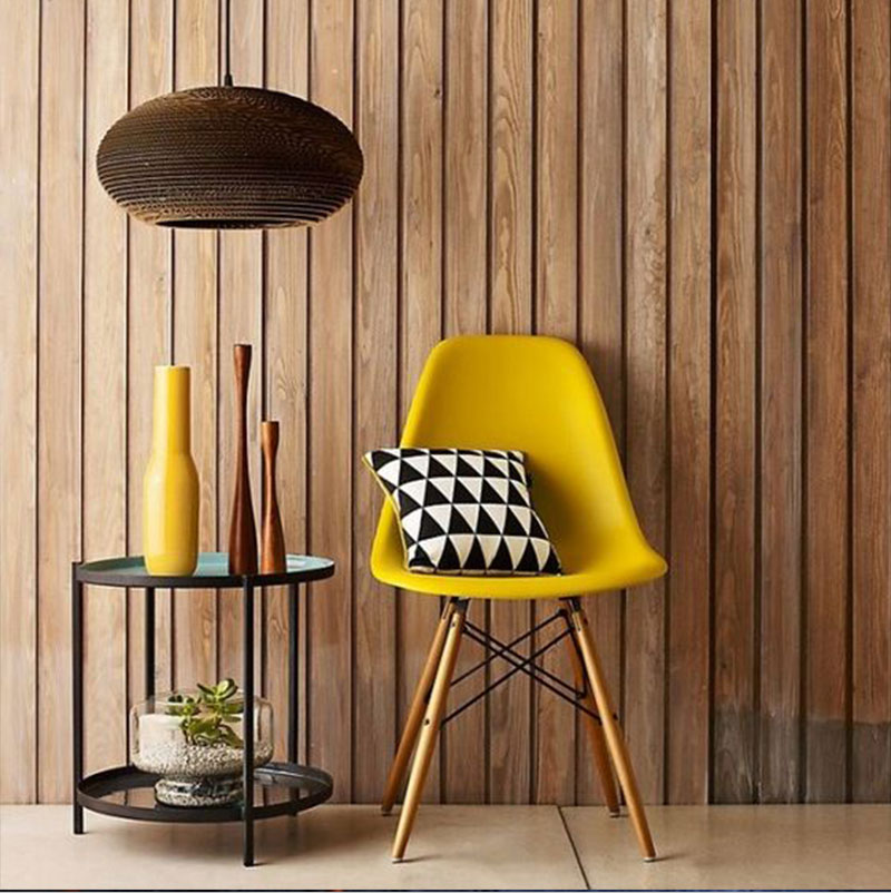 Cool Fauteuil Jaune Moutarde With Chaise Scandinave