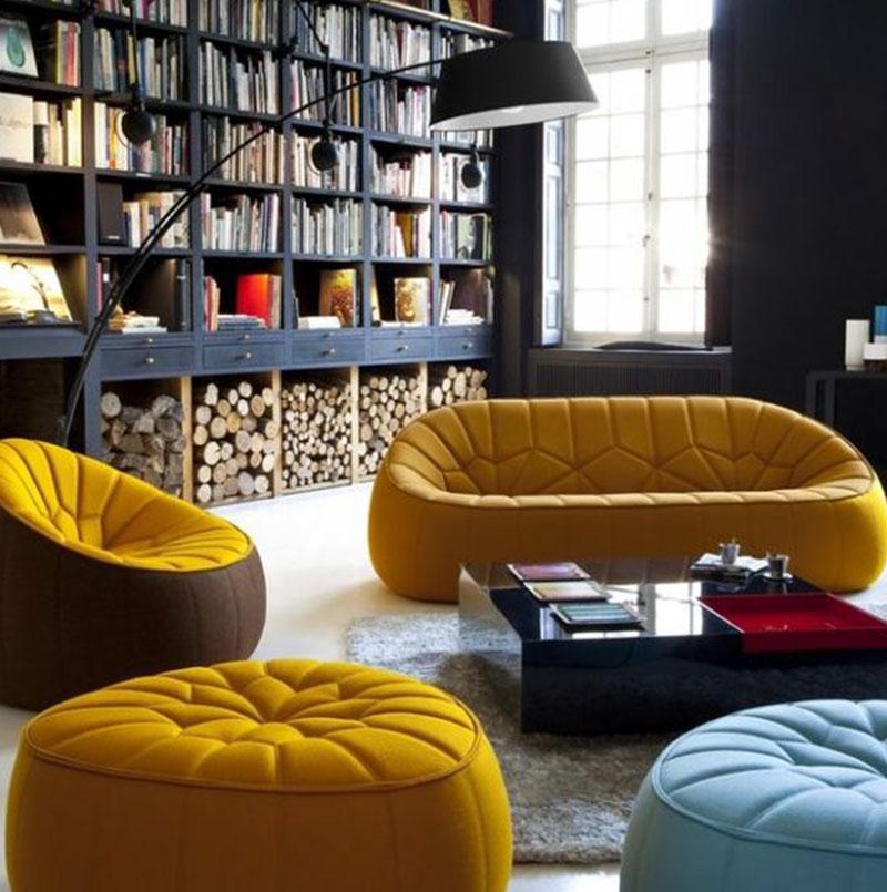 Fauteuil jaune la couleur intemporelle et tendance for Modeles de salon avec canape