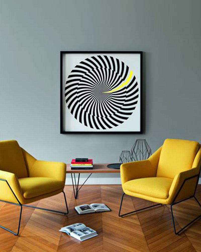 fauteuils jaune industriel
