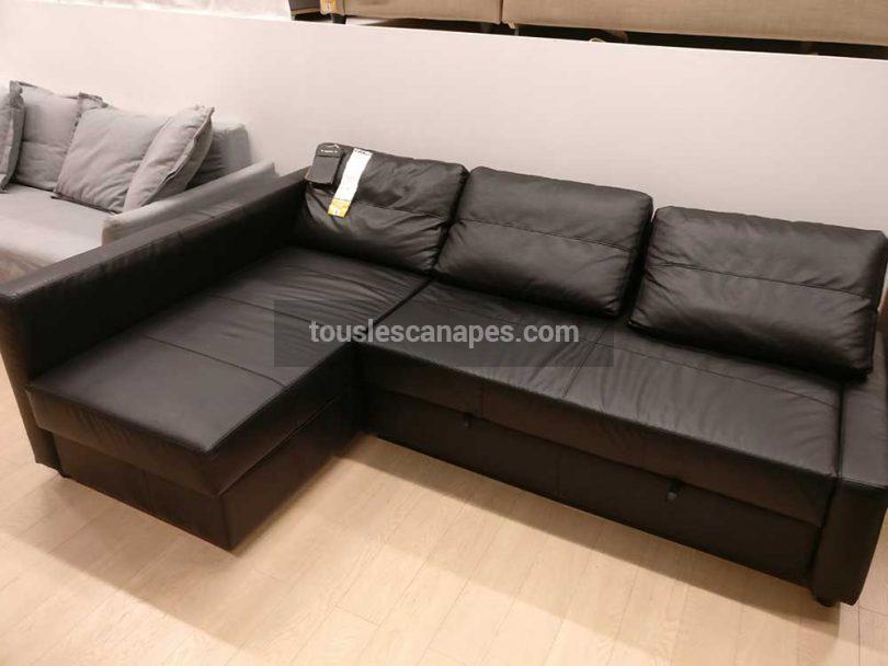 canape Ikea friheten d'angle noir
