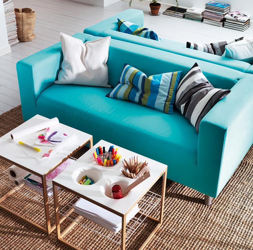 klippan pour salon en blue turquoise