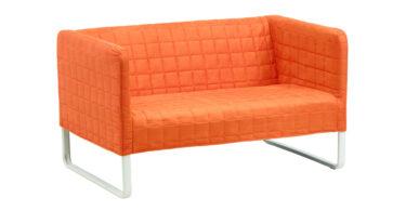 photo du canapé knopparp avec housse orange de IKEA