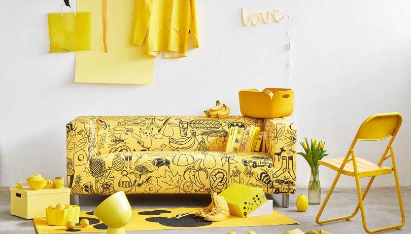 housse canapé klippan jaune pokemon