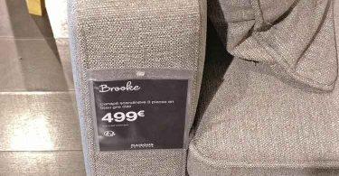 accoudoir du canapé brooke et son prix