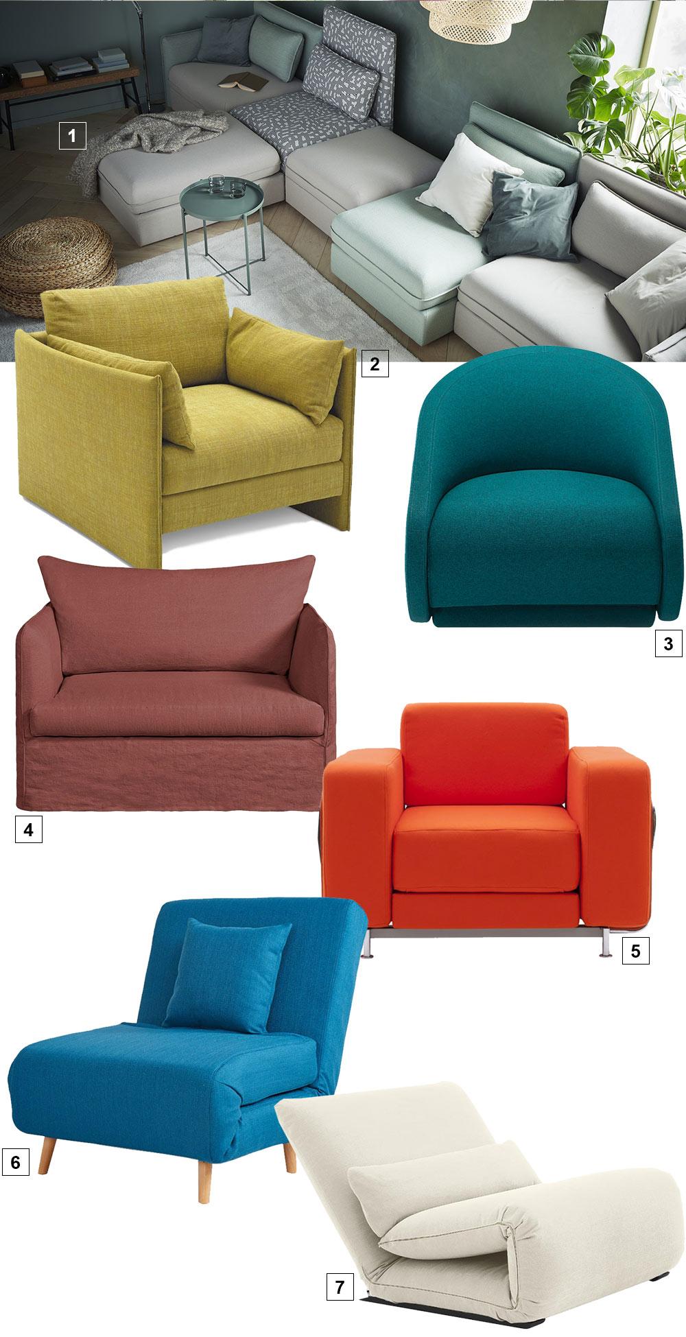 fauteuils convertibles design qui se déplient