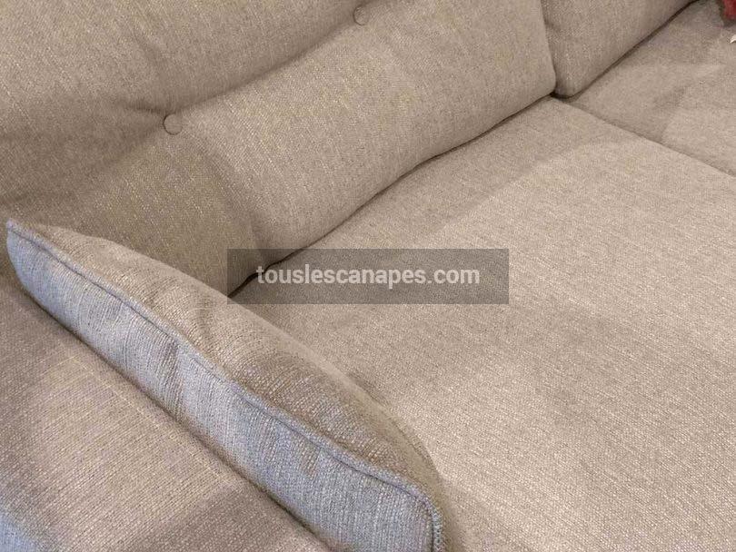 Canapé Brooke : Gros plan housse de canapé et texture chinée