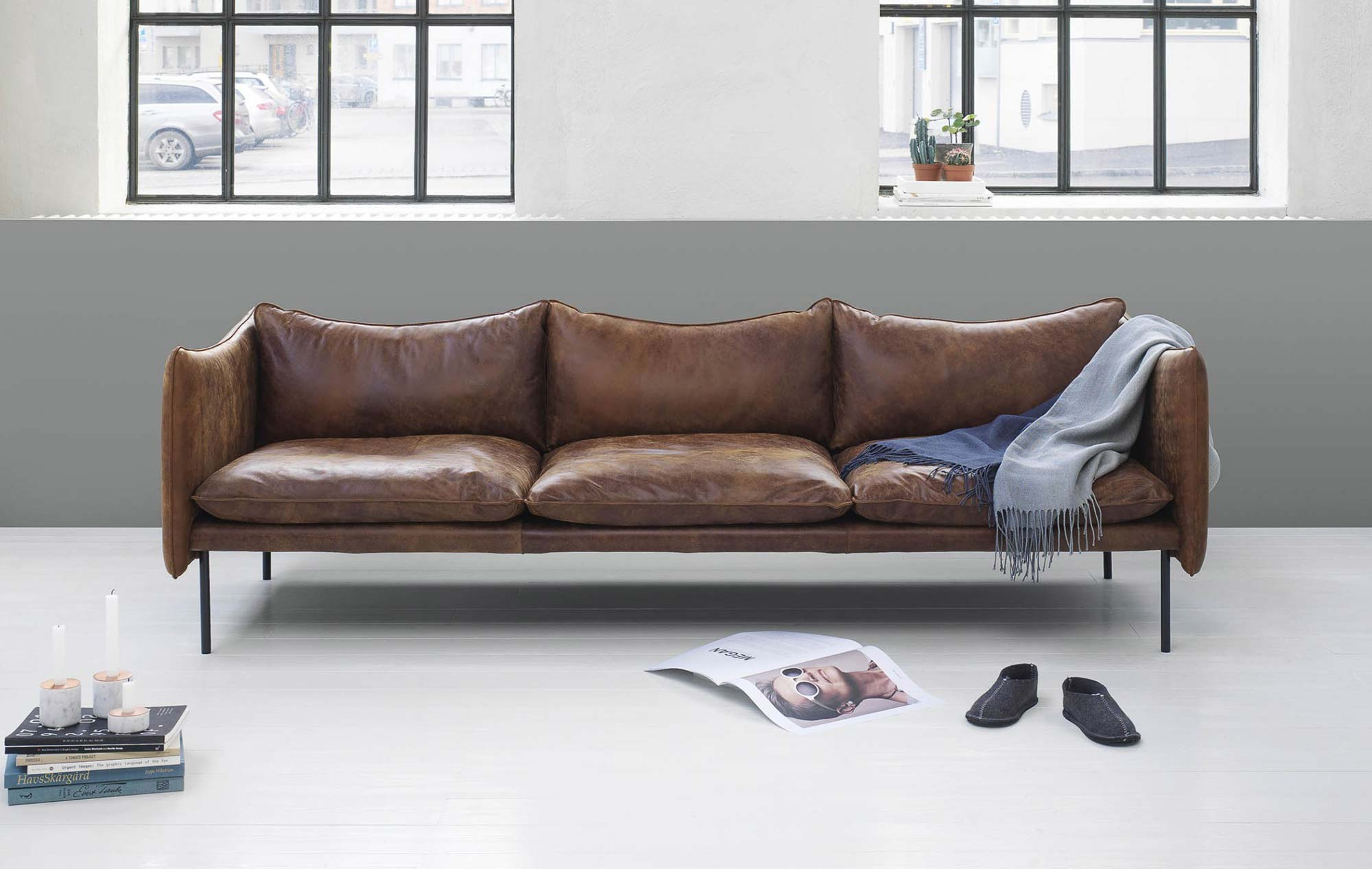 Lovely Canapé Chesterfield Cuir Convertible