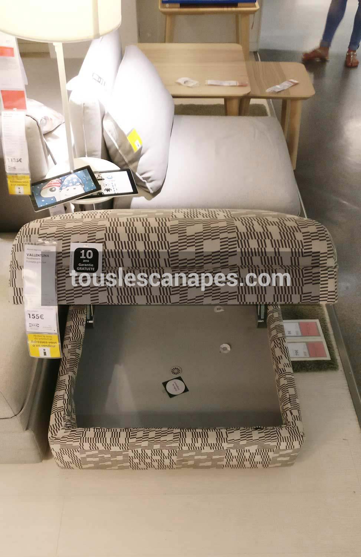 Test avis du canap modulable ikea vallentuna - Ikea coffre rangement ...