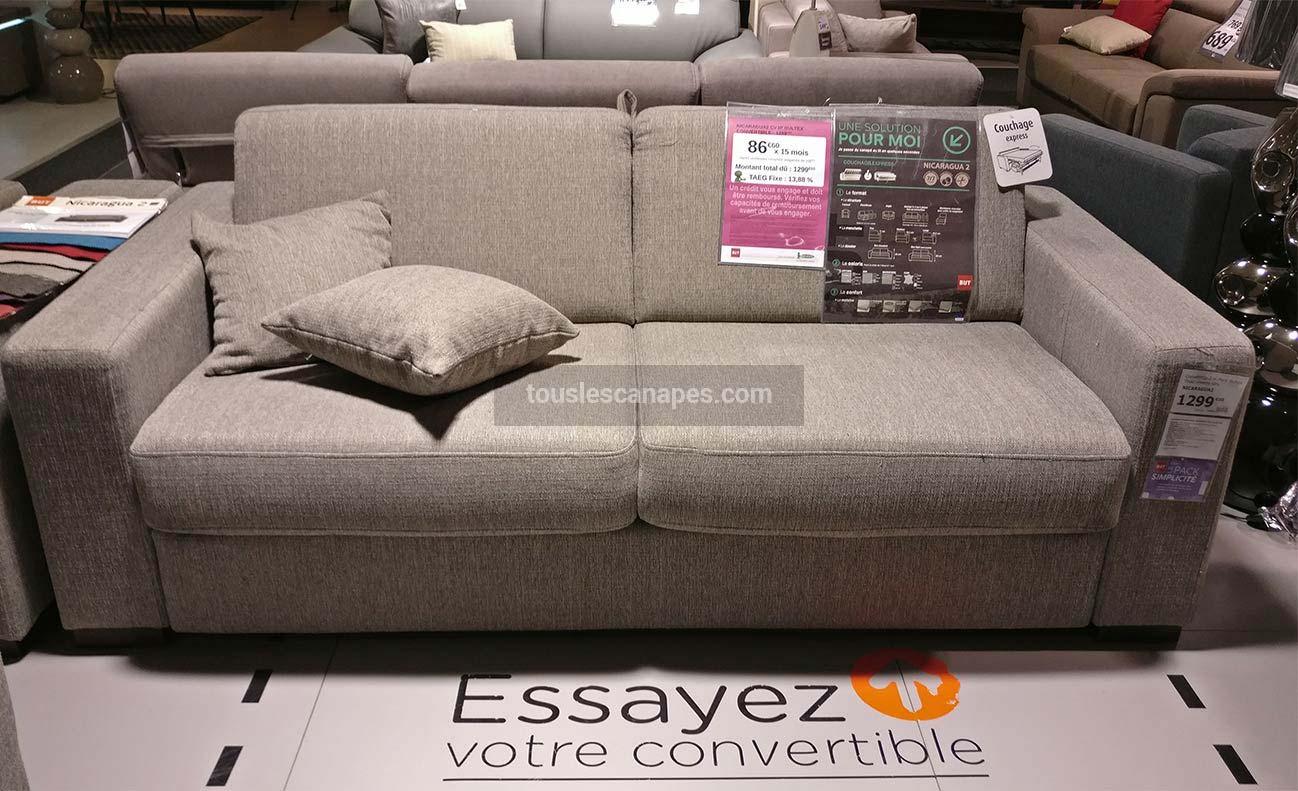 test et avis du canap convertible express nicaragua chez but. Black Bedroom Furniture Sets. Home Design Ideas