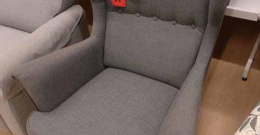 fauteuil à oreilles strandmon ikea gris
