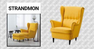 fauteuil strandmon année 50 en tissu de IKEA