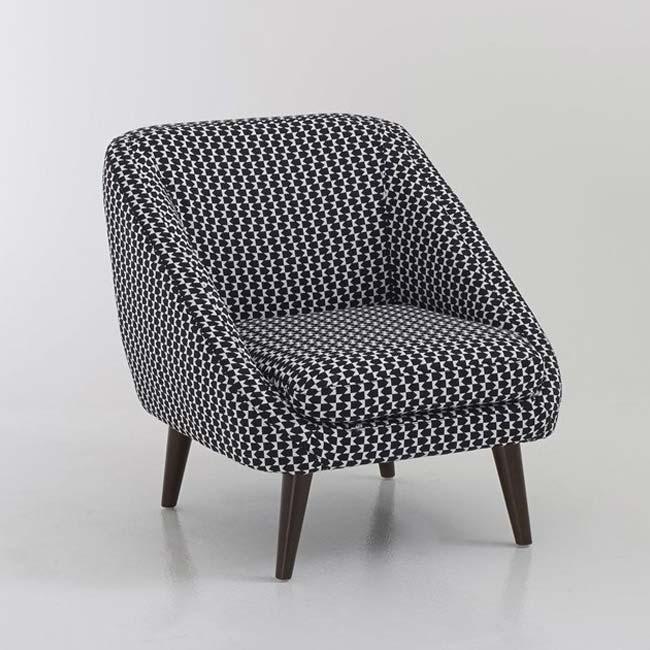 fauteuil semeon vintage noir et blanc scandinave la redoute