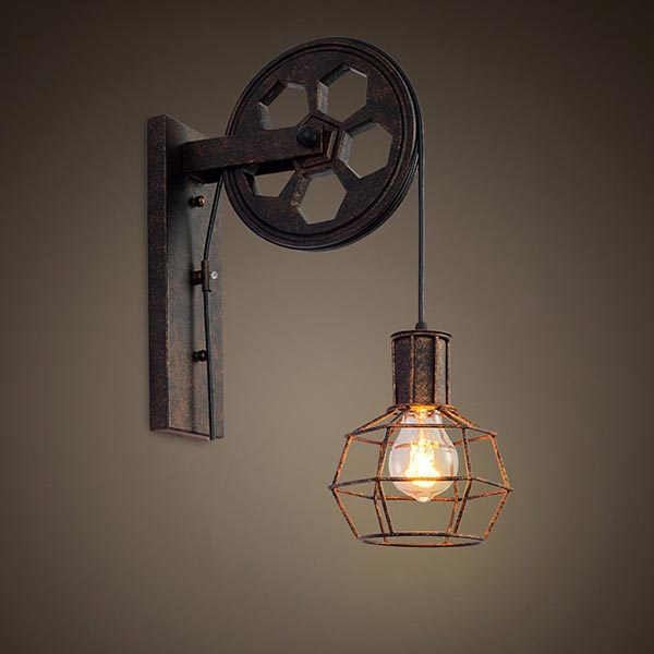 Lampe murale industrielle vintage