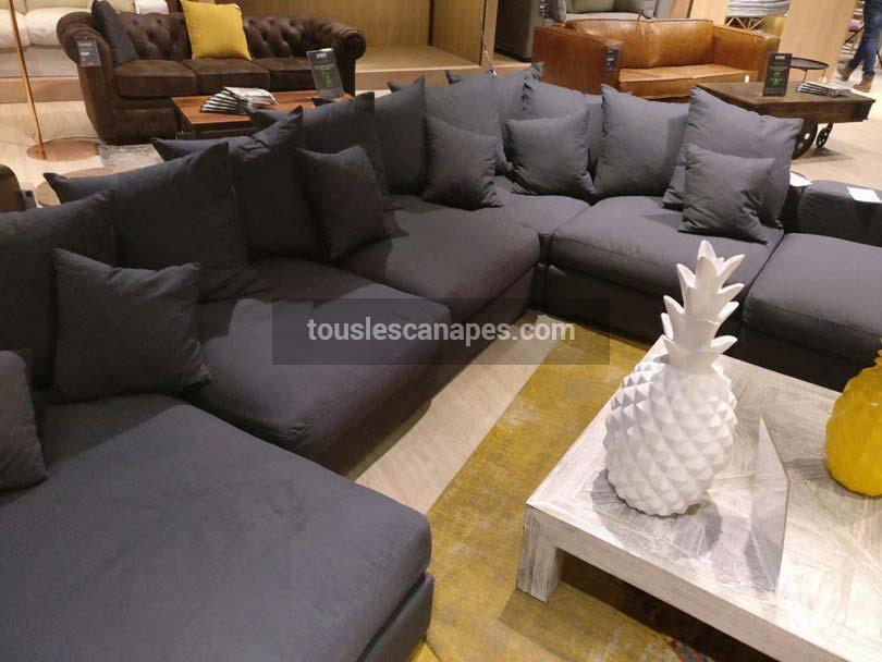 Canapé d'angle modulable 7 places LOFT de Maisons du Monde