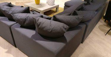 Canapé LOFT en tissu gris Maisons du Monde
