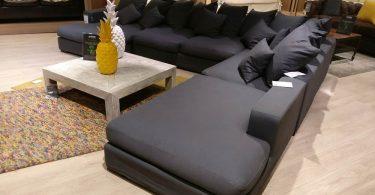 Avis canapé d'angle 7 places LOFT en tissu gris de Maisons du Monde