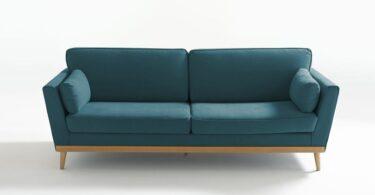 Canapé Tasie de la redoute interieurs bleu canard