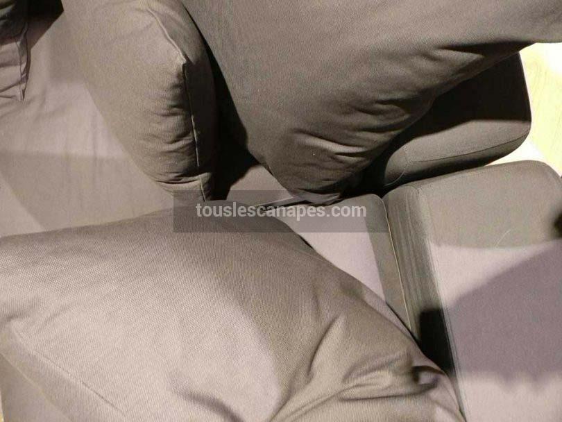 Coussins du canapé LOFT en tissu taupe 7 places de Maisons du Monde