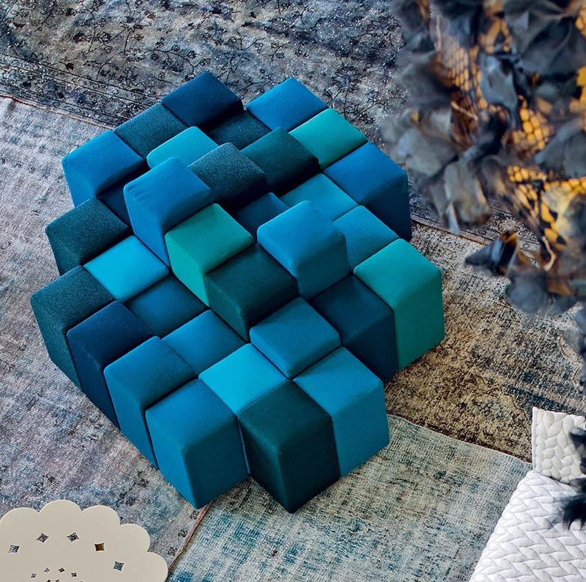 Canapé cubique et design Do-lo-rez