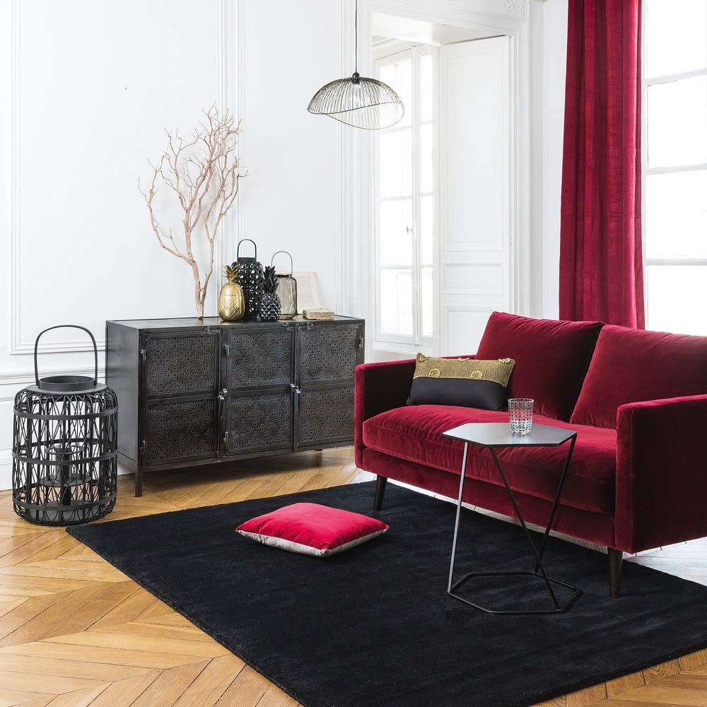 canapé Kant velours dans salon cosy