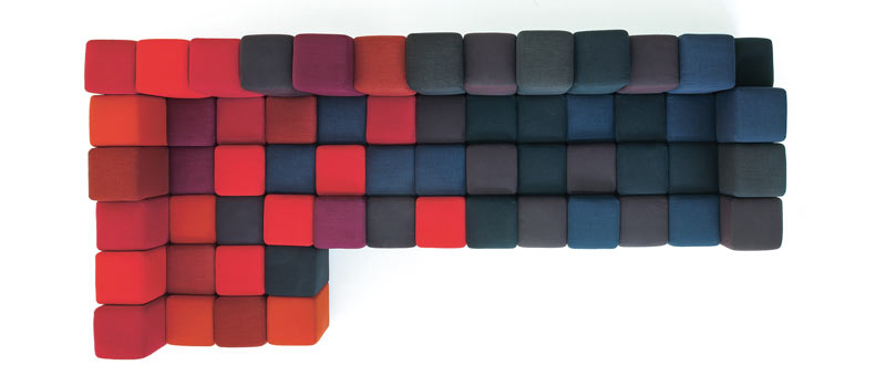 canapé design Do-Lo-Rez de Moroso rouge noir