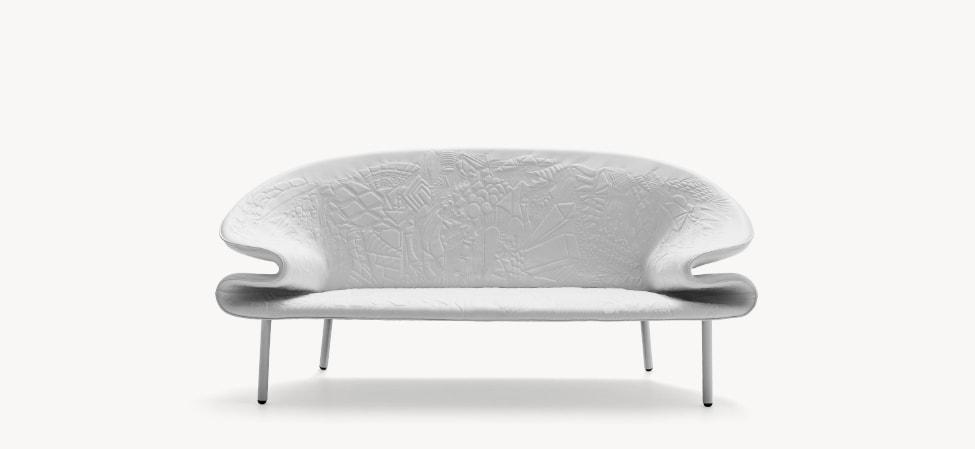Canapé Doodle blanc de Moroso