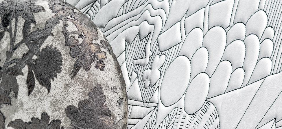 Revêtement gris canapé Moroso