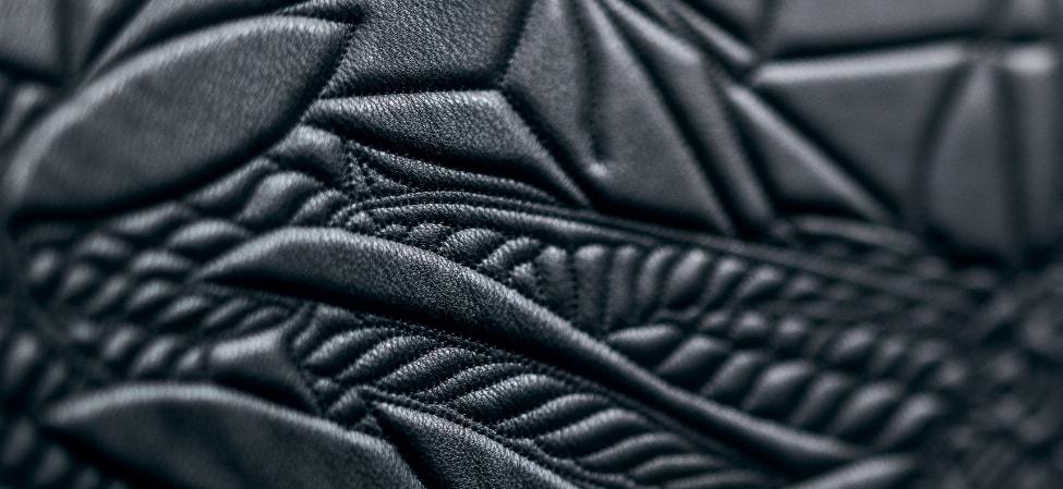 Revêtement noir canapé Moroso