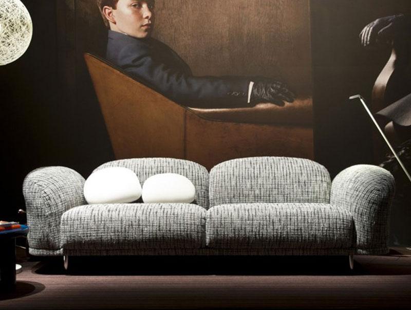 salon chic avec canapé Cloud de Moooi
