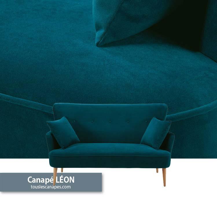 Avis canapé bleu pétrole LEON de Maisons du Monde