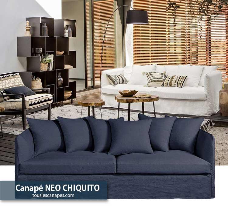 Avis canapé bleu indigo NEO CHIQUITO de AMPM