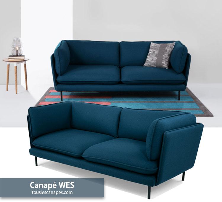 Avis Canapé Bleu Pétrole WES De Made.com