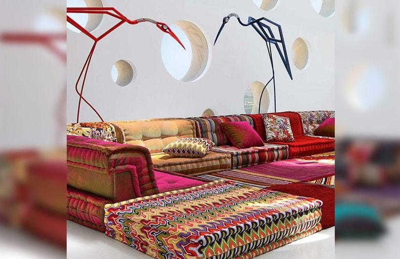 Canap marocain ambiance des milles et une nuits dans votre salon - Canape en coussin de sol ...