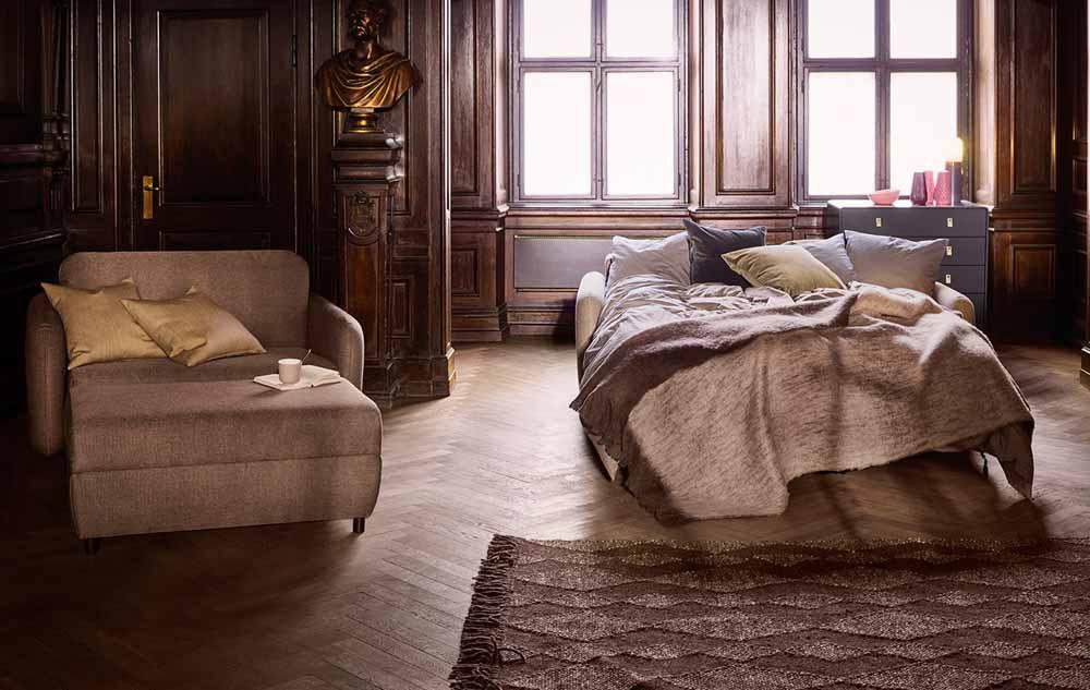 Canapé Fluffy de Bolia dans salon cosy