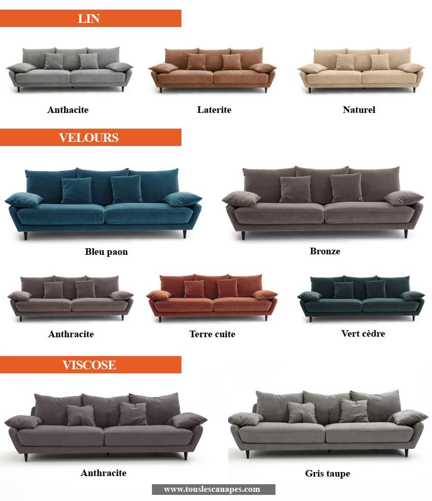Revêtements et coloris du canapé d'angle LENAKINE de AMPM