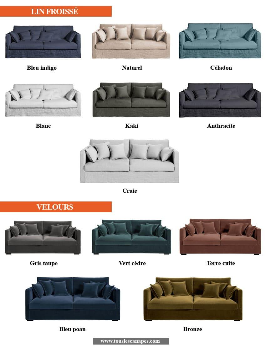 Revêtements et coloris du canapé NEO KINKAJOU de AMPM