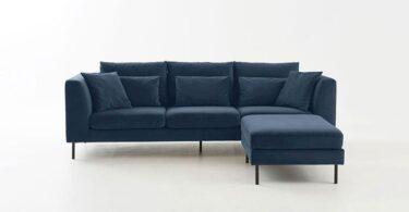 Canapé d'angle bleu nuit Cessao par La Redoute
